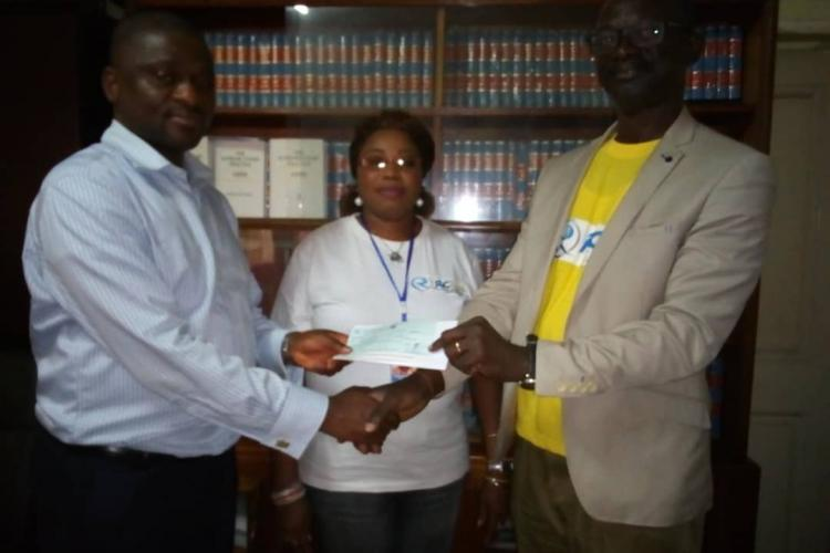 Rokel Commercial Bank Presents Cheque