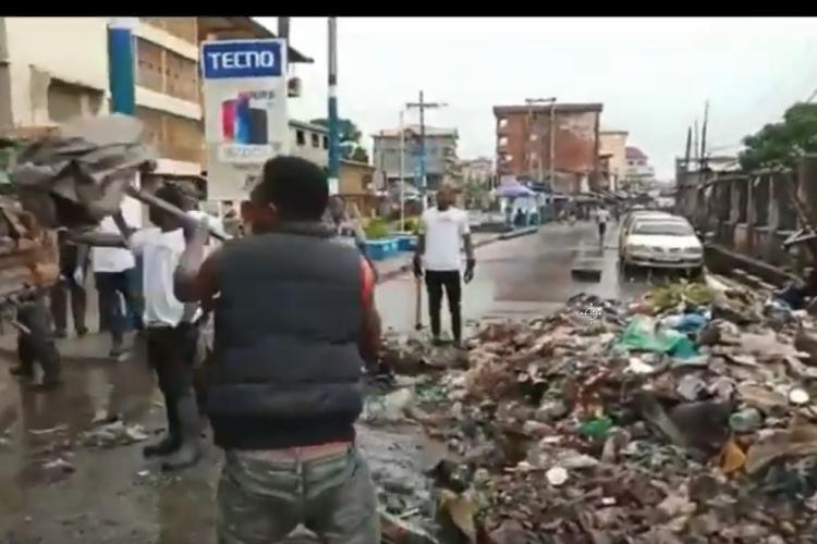 Cleaning at East End of Freetown